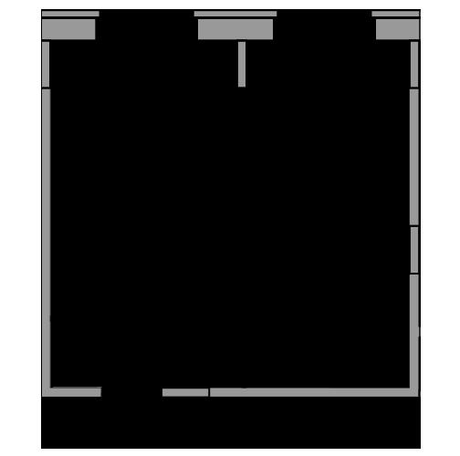 Планировка Однокомнатная квартира площадью 32.88 кв.м в ЖК «жк Юнтолово»