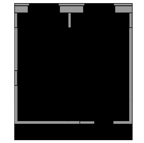 Планировка Однокомнатная квартира площадью 33.69 кв.м в ЖК «жк Юнтолово»