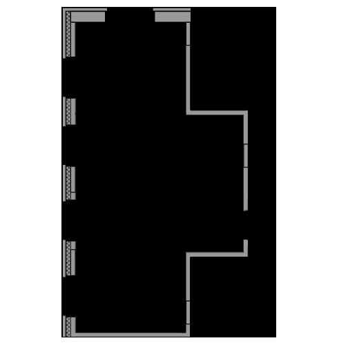 Планировка Двухкомнатная квартира площадью 48.45 кв.м в ЖК «жк Юнтолово»