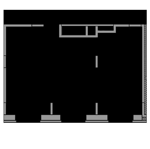 Планировка Двухкомнатная квартира площадью 48.87 кв.м в ЖК «жк Юнтолово»